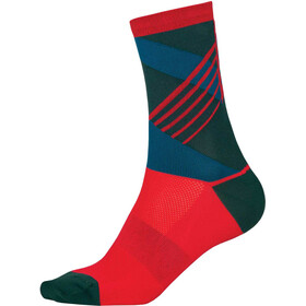 Endura SingleTrack Cycling Socks red/teal